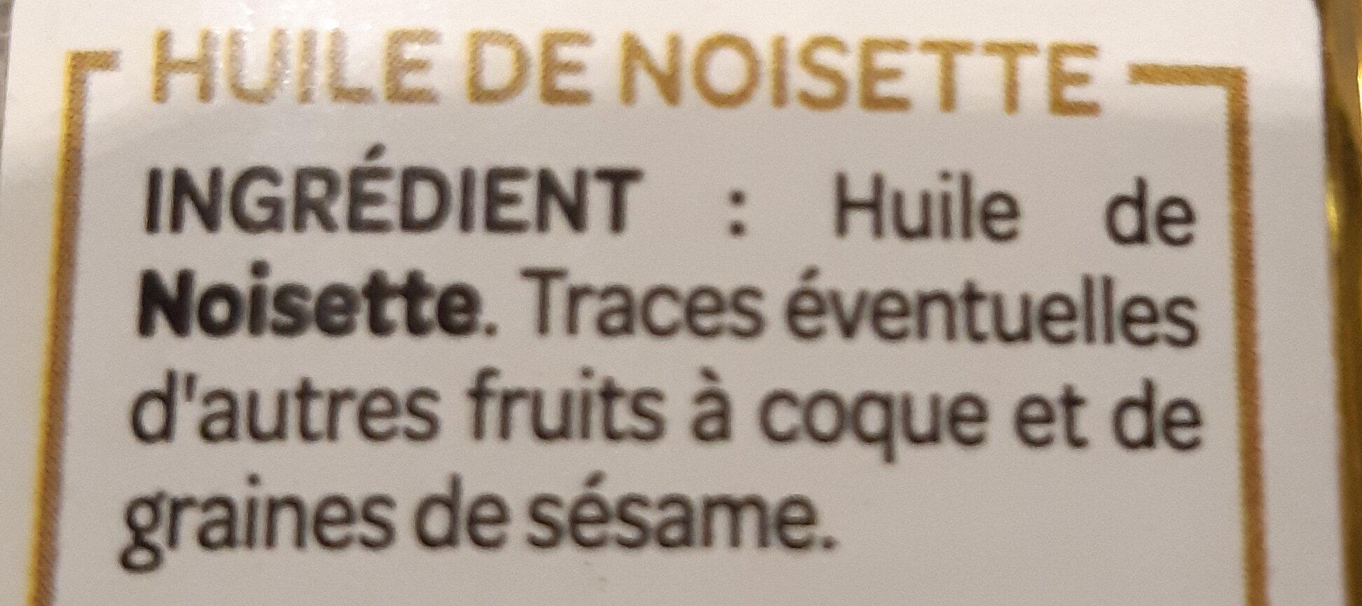 L'exceptionnelle huile de noisette - Ingrédients - fr