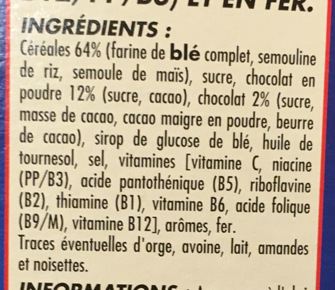 Céréales Soufflées au Chocolat - Ingredients - fr