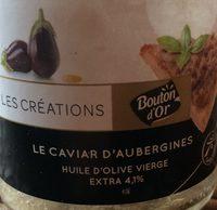 Les Créations - Le Caviar d'aubergine à l'huile d'olive vierge - Prodotto - fr