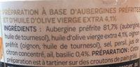 Les Créations - Le Caviar d'aubergine à l'huile d'olive vierge - Ingredienti - fr