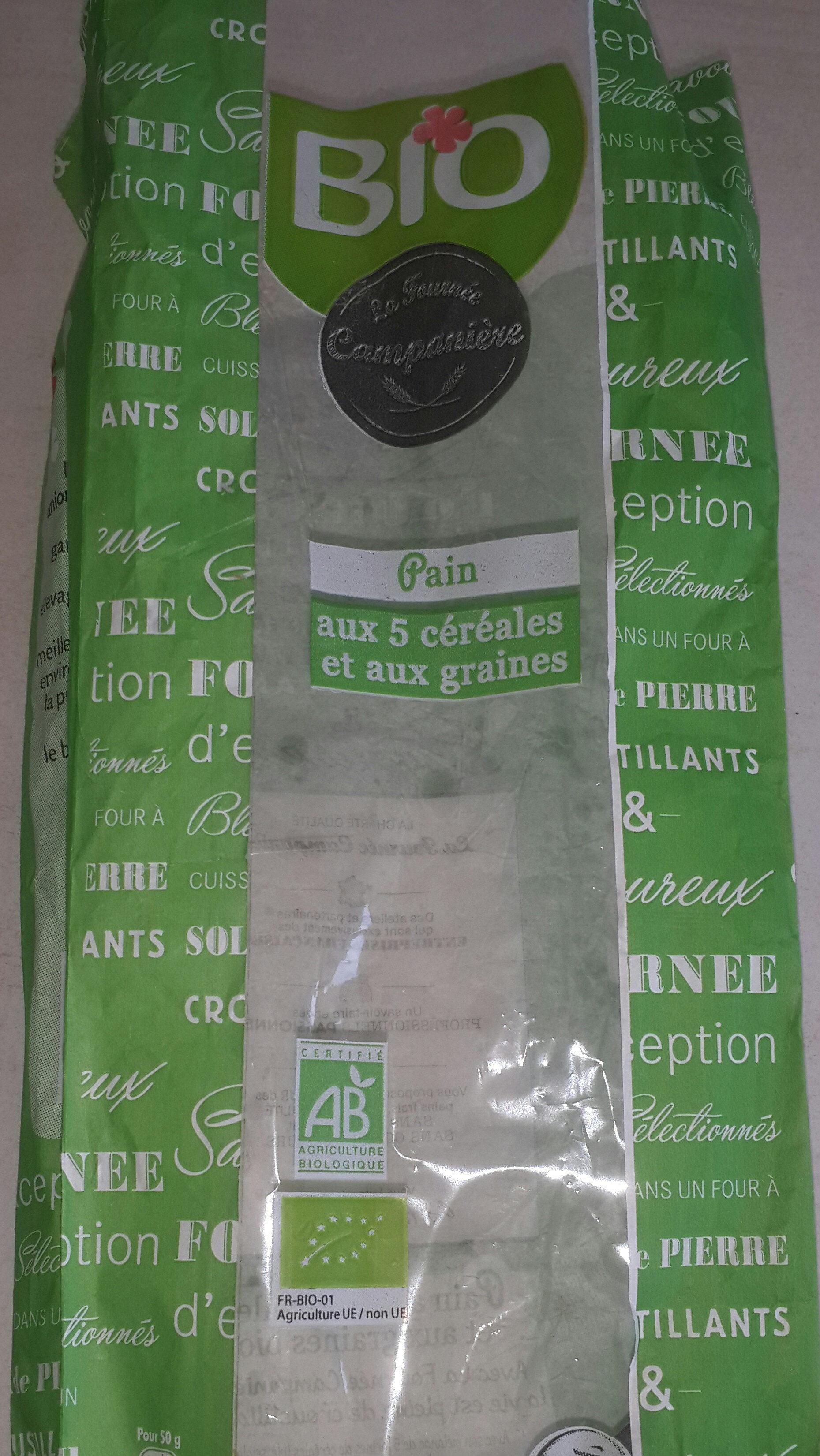 Pain 5 céréales-graines Bio Fournée Campanière - Product