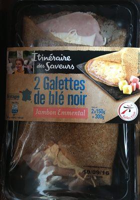 2 Galettes de ble noir jambon emmental - Produit