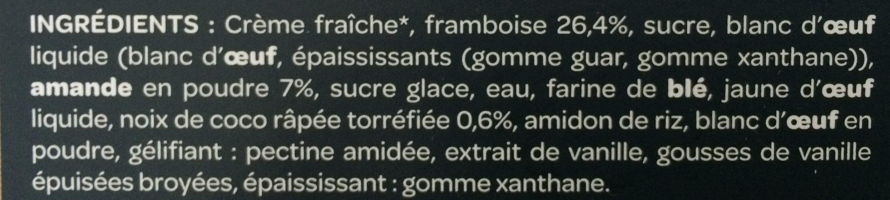 Adelie Macaron Framboises - Ingredients