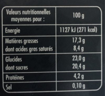 Adelie Macaron Framboises - Nutrition facts