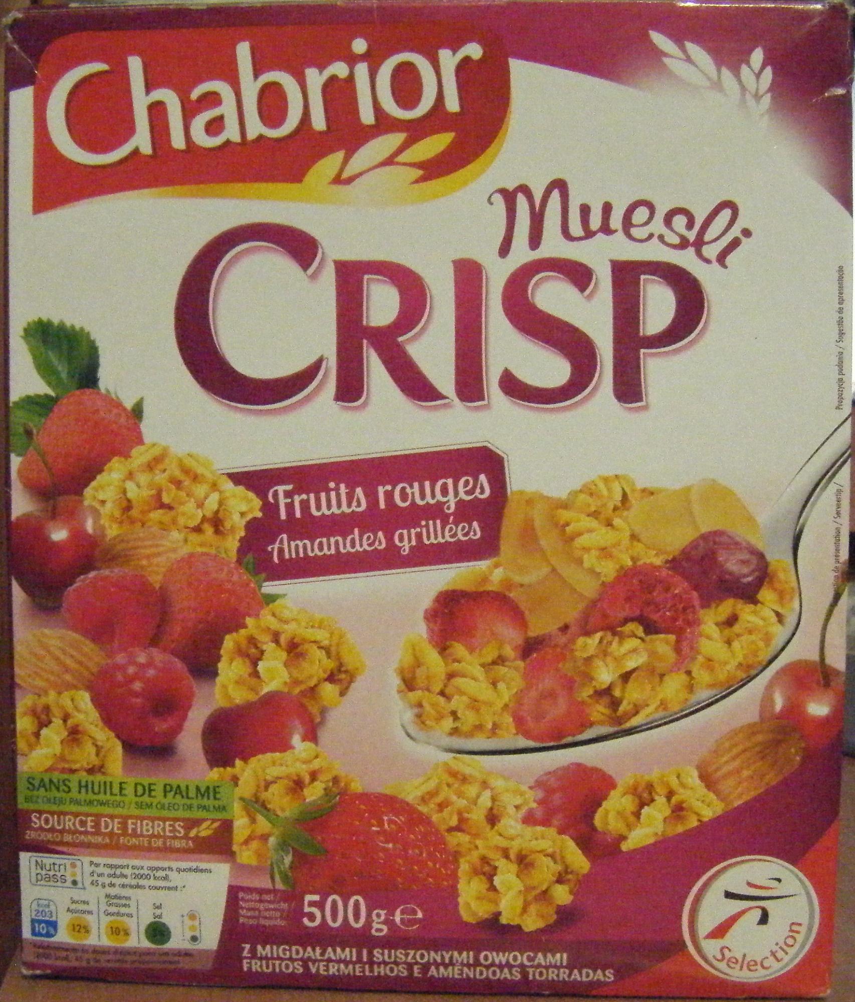 Muesli CRISP Fruits rouges Amandes grillées - Produit - fr