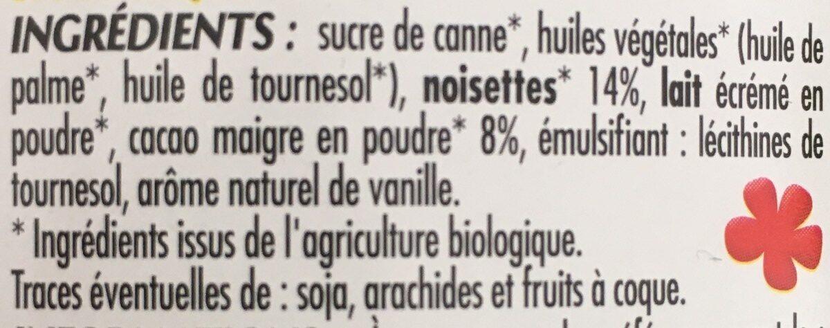 Pate à tartiner bio - Ingrediënten - fr