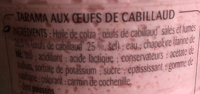 Tarama aux oeufs de cabillaud - Ingredients - fr