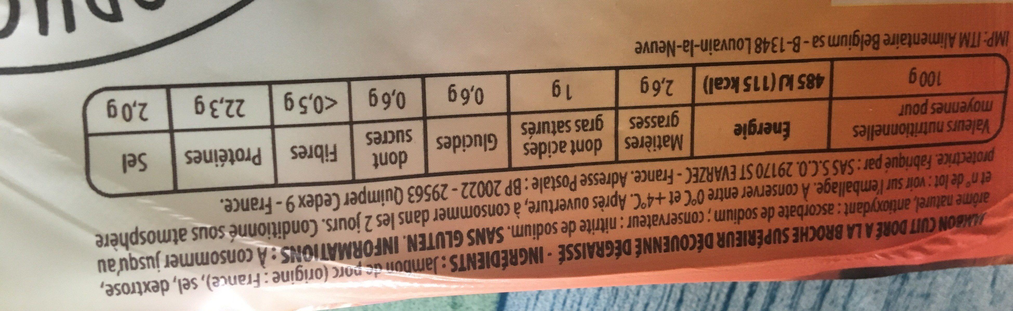 Doré à la broche délicatement rôti - Ingredients - fr