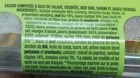 Salade Surimi Crudités - Ingredients
