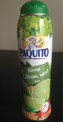 Sirop Citron vert - Product