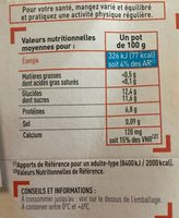 Fromage blanc 0%, saveur vanille - Nutrition facts