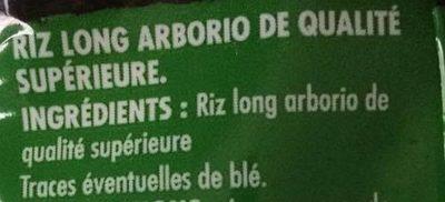 Riz arborio pour risotto - Ingrédients - fr
