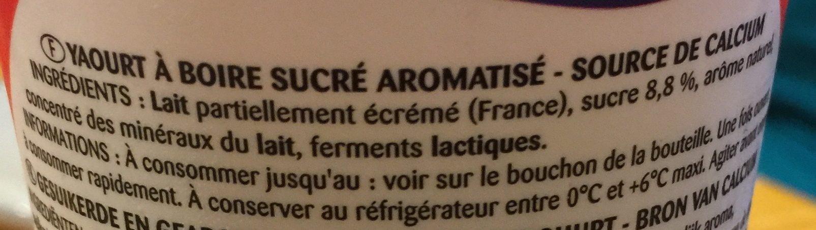 YAB** Saveur Fraise - Ingredients