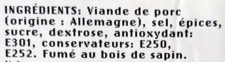 Jambon Cru Fumé de la Forêt Noire - Ingredients