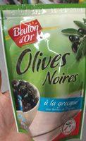 , Olives noires a la grecque aux herbes de Provence, le sachet de 125 g - Produit - fr