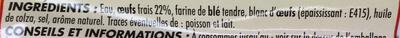 6 quenelles à la lyonnaise nature - Ingrédients - fr