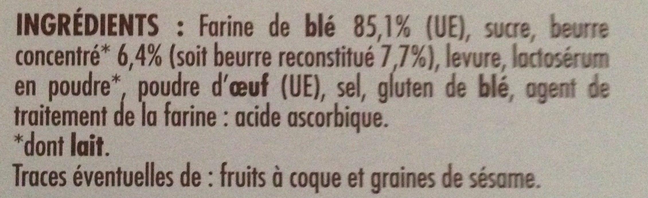 Pain grillé brioché - Ingrédients - fr