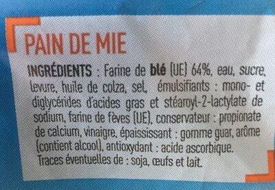 Just'Mie nature - Ingrédients