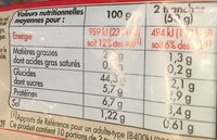 Just' Mie Nature - Informations nutritionnelles - fr