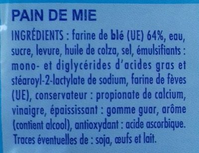 Coeur de mie nature - Ingredients - fr