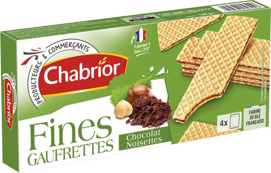 Fines gaufrettes chocolat noisettes - Produit - fr