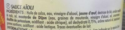 Sauce Aïoli à l'ail - Ingrediënten