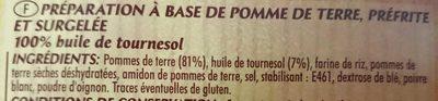 Pom' Noisettes dorées & moelleuses - Ingrédients - fr