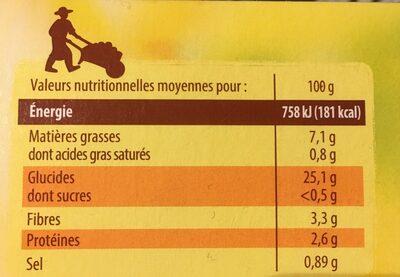 Pom' Noisettes dorées & moelleuses - Informations nutritionnelles - fr