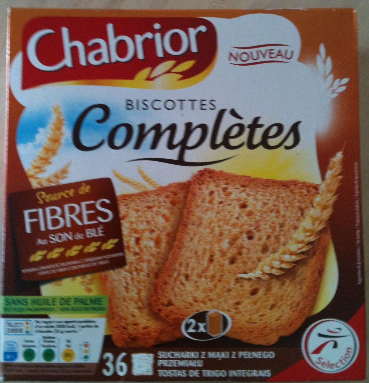 Biscottes Complètes 36 tranches - Product