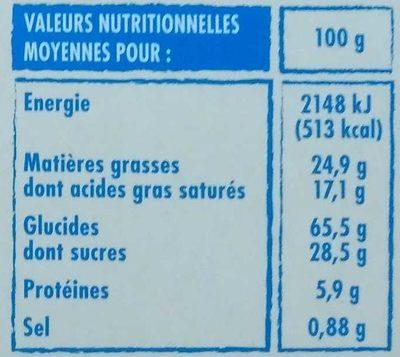 Galettes bretonnes - Au beurre - Spécialité de Pont-Aven - Informations nutritionnelles - fr