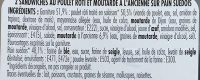 Poulet rôti moutarde à l'ancienne - Ingrédients - fr
