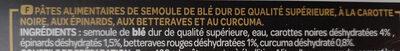 Conchiglie 5 saveurs - Ingrédients - fr