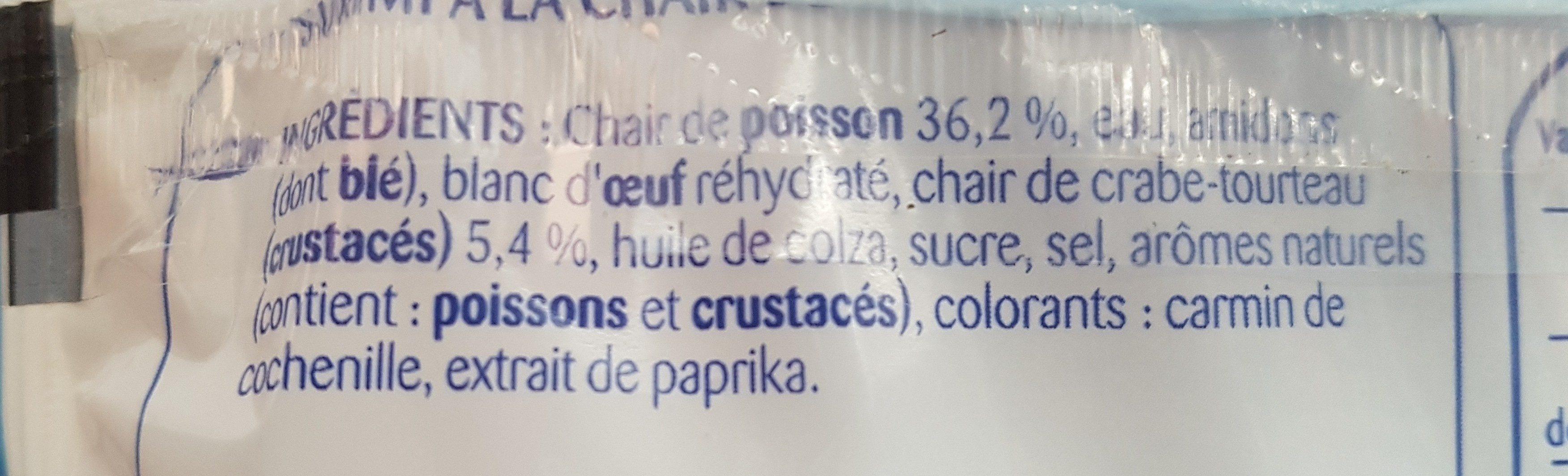 Plaisir de surimi à la chair de crabe - Ingrédients - fr