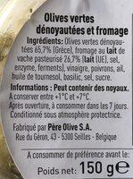 olives grecques dénoyautées et fromage - Ingredients