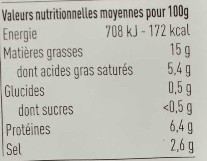 olives grecques dénoyautées et fromage - Nutrition facts