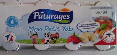 Mon Petit Yab - Pâturages - Banane-fraise /¨Pêche-abricot - Product