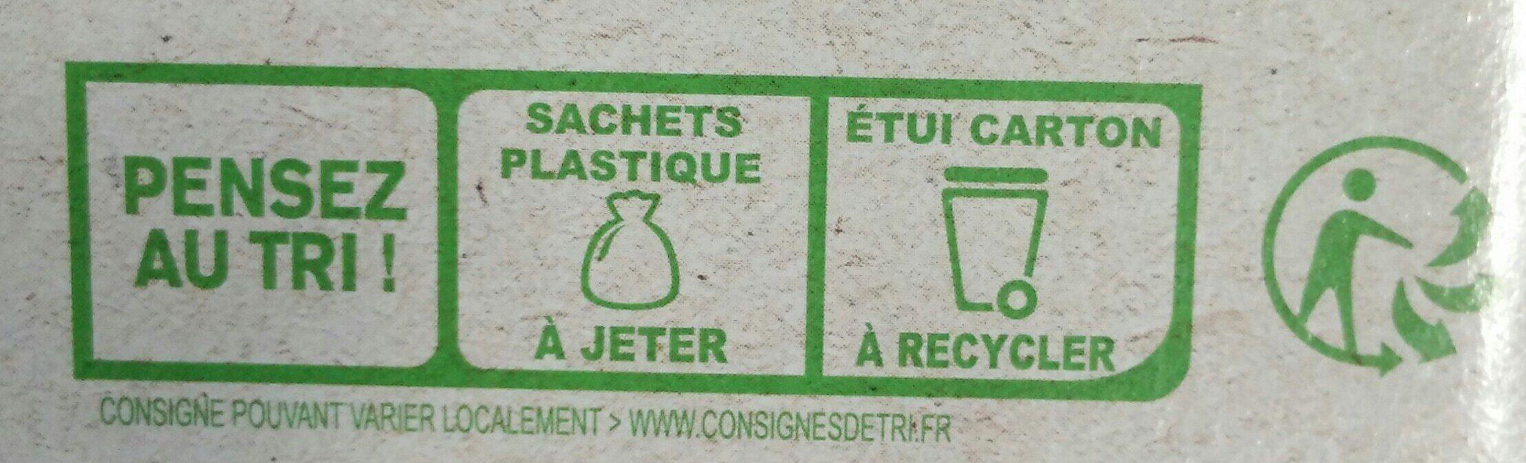 Galettes bretonnes pur beurre bio - Instruction de recyclage et/ou informations d'emballage - fr