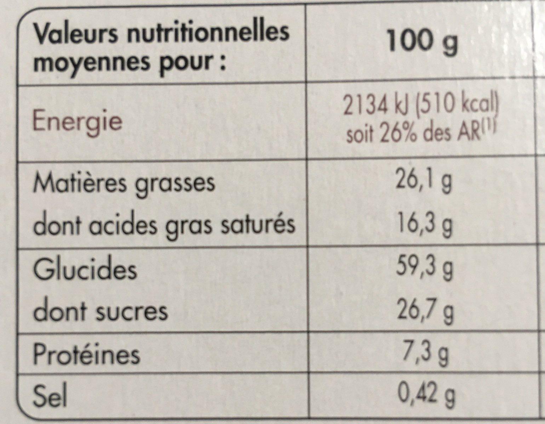 Petit Beurre avec Tablette de Chocolat Noir Bio - Nutrition facts