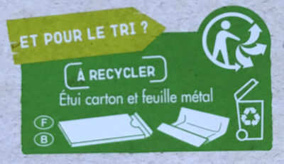 Noir dégustation  70% de cacao BIO - Istruzioni per il riciclaggio e/o informazioni sull'imballaggio - fr
