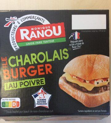 Le charolais Burger viande Charolaise sauce au poivre, 195 g - Product - fr