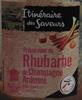Préparation de Rhubarbe de Champagne Ardenne - Produit