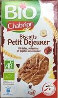 Biscuits petit dejeuner céréales, pépites de chocolat et noisettes bio - Product - fr