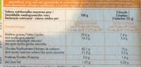 Palmiers au sucre de canne roux - Nutrition facts