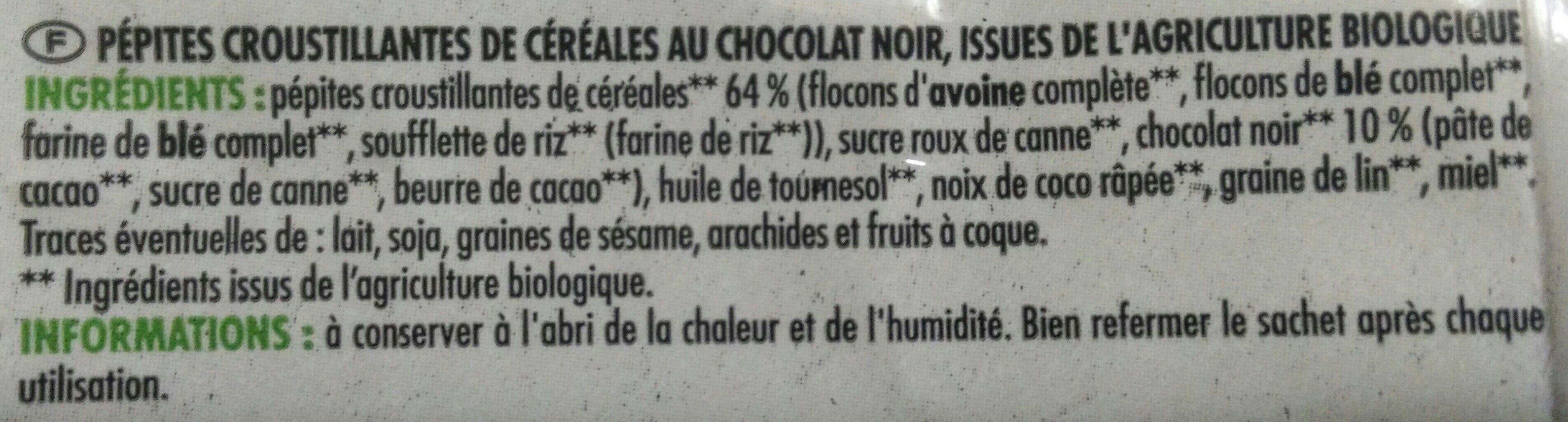 Muesli croustillant au chocolat - Ingredienti - fr
