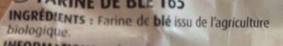 Farine blanche - Ingrédients - fr