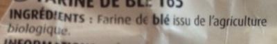 Farine blanche - Ingrédients