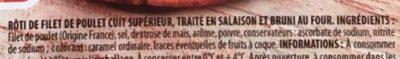 Rôti de Poulet 100% Filet - Ingredients - fr