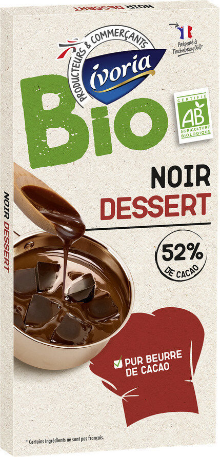 Tablette Bio dessert chocolat noir 52% - Prodotto - fr