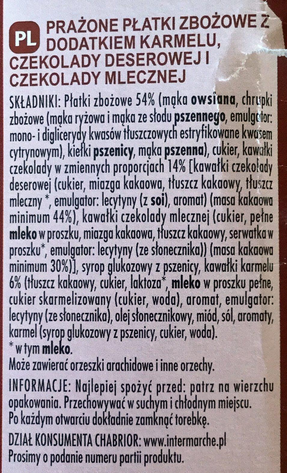 Crisp Muesli 2 Chocolats et Caramel - Składniki