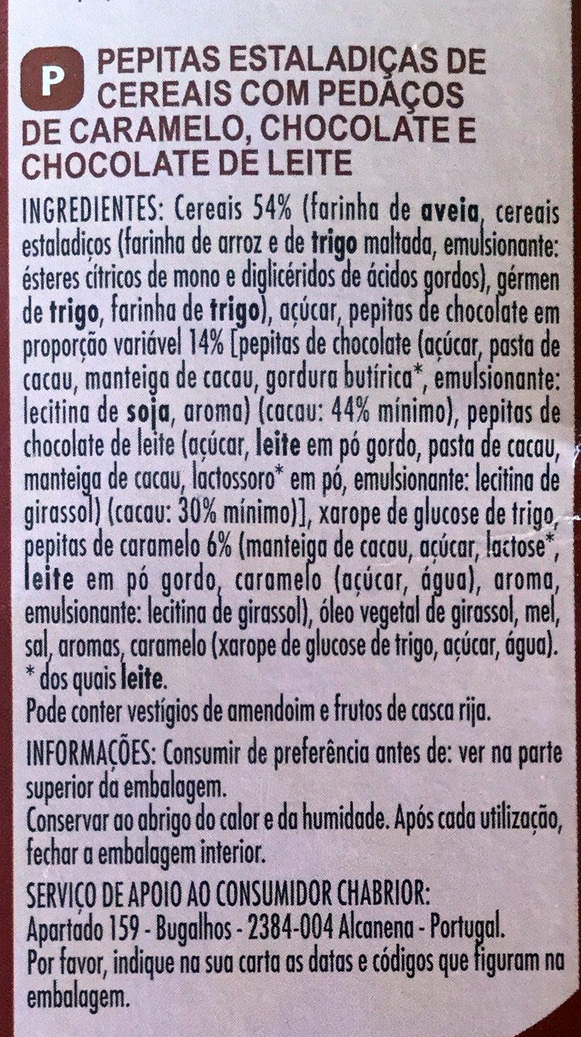 Crisp Muesli 2 Chocolats et Caramel - Ingredients